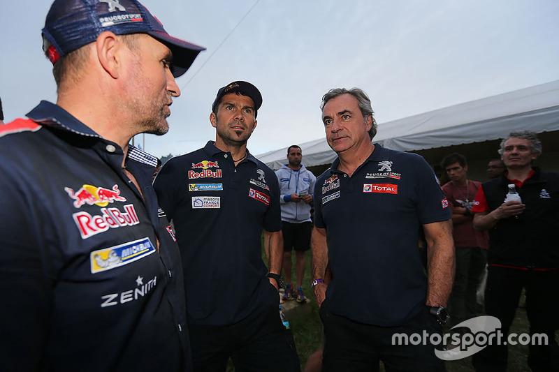Stéphane Peterhansel, Cyril Despres y Sébastien Loeb, Peugeot Sport