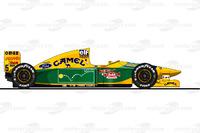 Der Benetton B193 von Michael Schumacher in der Saison 1993