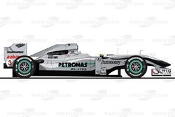 Der Mercedes W01 von Michael Schumacher in der Saison 2010