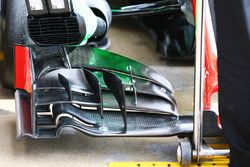Haas F1 Team VF-16, dettaglio dell'ala anteriore