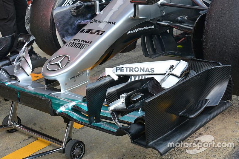Mercedes AMG F1 Team W07, dettaglio del muso
