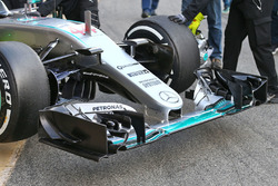 Lewis Hamilton, Mercedes AMG F1 Team W07 front wing detail