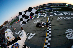 John Hunter Nemechek, NEMCO Motorsports Chevrolet takes the win