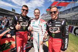Garth Tander, Holden Racing Team; Craig Lowndes, Triple Eight Race Engineering Holden; James Courtney, Holden Racing Team