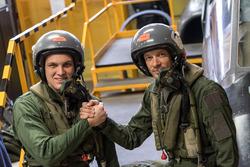 Marco Sörensen und Alexander Wurz sind bereit  für den Flug