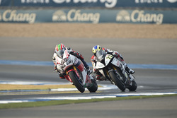 Nicky Hayden, Honda WSBK Team et Markus Reiterberger, Althea BMW Team