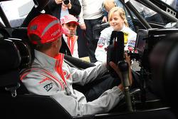 Heikki Kovalainen, McLaren Mercedes in a Mercedes DTM car