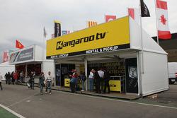 Kangaroo TV F1 merchandise area