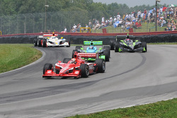 Dan Wheldon leads Ryan Hunter-Reay and Ernesto Viso