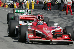 Mud covers Scott Dixon's car after the race
