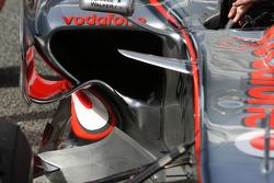 Pedro de la Rosa, Test Driver, McLaren Mercedes, MP4-23, detail