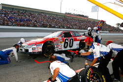 A loose oil line fitting forced Carl Edwards to pit the Vitaminwater Ford very early