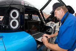 Michael Shank Racing crew member at work