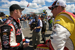 Steve Wallace and Clint Bowyer