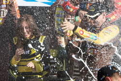 Victory lane: champagne celebration for race winner Kyle Busch