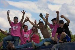 Happy fans at Watkins Glen