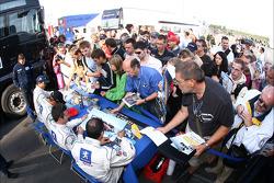 Autograph session: Pedro Lamy, Stéphane Sarrazin, Marc Gene and Nicolas Minassian