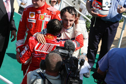 Podium: Felipe Massa and Robert Kubica