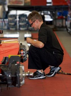 Newman/Haas/Lanigan Racing team member at work