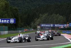 Robert Kubica,  BMW Sauber F1 Team leads Nick Heidfeld, BMW Sauber F1 Team