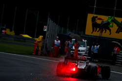 Giancarlo Fisichella, Force India F1 Team, VJM-01 spins