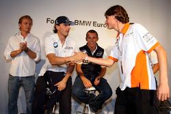 BBQ at FBMW Hospitality: Nico Rosberg, WilliamsF1 Team, Robert Kubica,  BMW Sauber F1 Team Christian Klien, Test Driver, BMW Sauber F1 Team, Esteban Gutierrez, Josef-Kaufmann-Racing, Dr. Mario Theissen, BMW Sauber F1 Team, BMW Motorsport Director