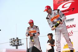 GT500 podium: second place Ralph Firman and Takuya Izawa
