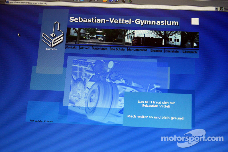 Рідне місто Себастьяна Феттеля - Геппенгайм, Німеччина: гімназія Себастьяна Феттеля - скріншот сайту