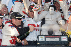 Victory lane: race winner Greg Biffle celebrates with his team