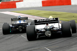 #8 Chris Woodhouse (GB) Woodhouse Bros., F1 Lola T90/50 Cosworth 3.5 V8, and #11 Walter Colacino (I) Scuderia Grifo Corse, IRL G-Force Chevy 3.5 V8