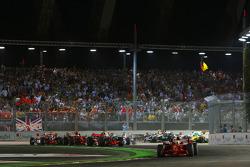Start, 1st, Felipe Massa, Scuderia Ferrari, F2008
