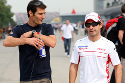 Mark Webber and Jarno Trulli