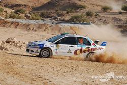 #14 Damas Rally Team Mitsubishi Lancer Evo 8: Faris Bustami and Ramzi Mansour