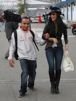Nicholas Hamilton, Brother of Lewis Hamilton, McLaren Mercedes, Nicole Scherzinger, Singer in the Pussycat Dolls, girlfriend of Lewis Hamilton, McLaren Mercedes