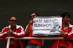 Rubens Barrichello, Honda Racing F1 Team, banner