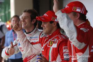 Jarno Trulli and Kimi Raikkonen in 2008