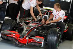 Heikki Kovalainen, McLaren Mercedes y su novia Catherine Hyde