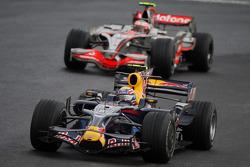 Mark Webber and Heikki Kovalainen