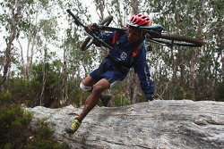 Launceston, Australia: Gibson Kemori of Team No Roads Expidition in action