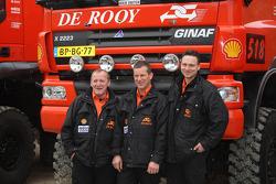 Team de Rooy: driver Hugo Duisters, co-driver Yvo Geusens, crew member Michel Huisman