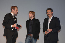 BMW Sauber F1 Team pilotu Nick Heidfeld ve Dr Mario Theissen