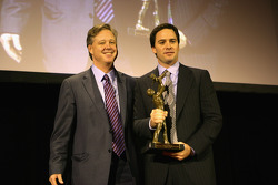 NASCAR Chairman and CEO Brian France and NASCAR Sprint Cup Series champion Jimmie Johnson attend the March of Dimes Luncheon at the Waldorf=Astoria as Johnson was honored as the 2008 March of Dimes Sportsman of the Year