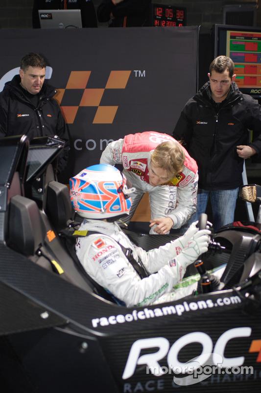 Jenson Button and Mattias Ekström