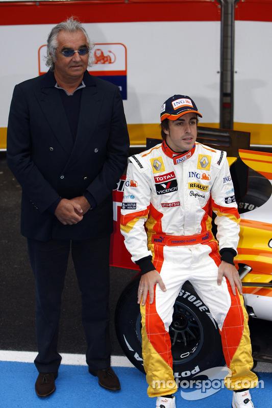 Fernando Alonso und Flavio Briatore, Renault, R29