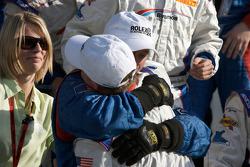 DP victory lane: race winner David Donohue celebrates