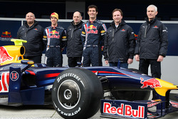 Rob Marshall; Sebastian Vettel, Red Bull Racing; Adrian Newey, Red Bull Racing; Mark Webber, Red Bull Racing; Christian Horner, Red Bull Racing; Geoff Willis, Red Bull Racing