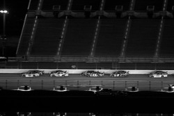 Race action down the superstretch