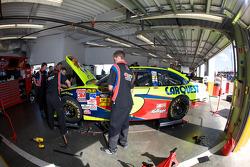 Hendrick Motorsports Chevrolet crew members at work