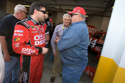 Tony Stewart, Stewart-Haas Racing Chevrolet, and racing legend A.J. Foyt