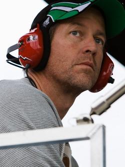 Actor James Denton watches the race